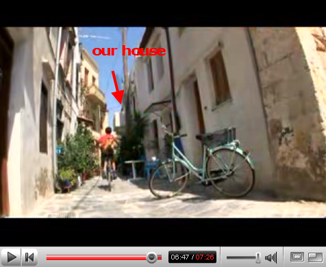 video capture showing our house in Chania